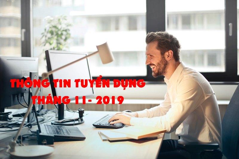 Thông tin tuyển dụng tháng 11-2019: tuyển dụng kế toán