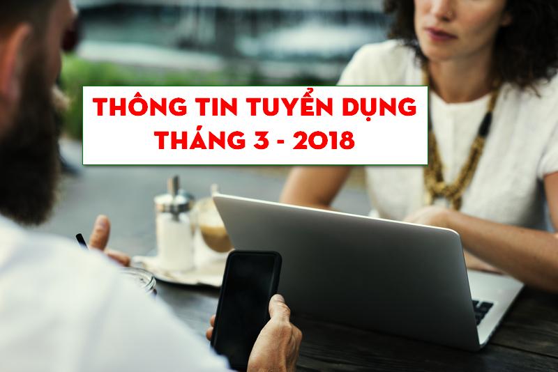 Tuyển dụng nhân viên bán hàng - quảng bá - marketing tháng 03-2018